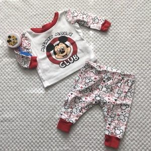 Disney Matching Sets - DISNEY BABY MICKEY MOUSE CLUB SET 6/9 month